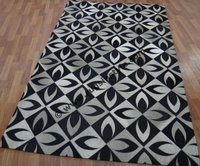 Leather Patchwork Exhibition Carpet,Leather Rug