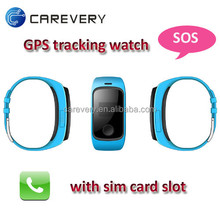 GPS wrist cell phone watch smart watch phone for kids, mobile phone watch child tracker