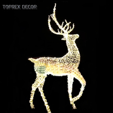 Toprex Decor LED outdoor large motif christmas reindeer lights