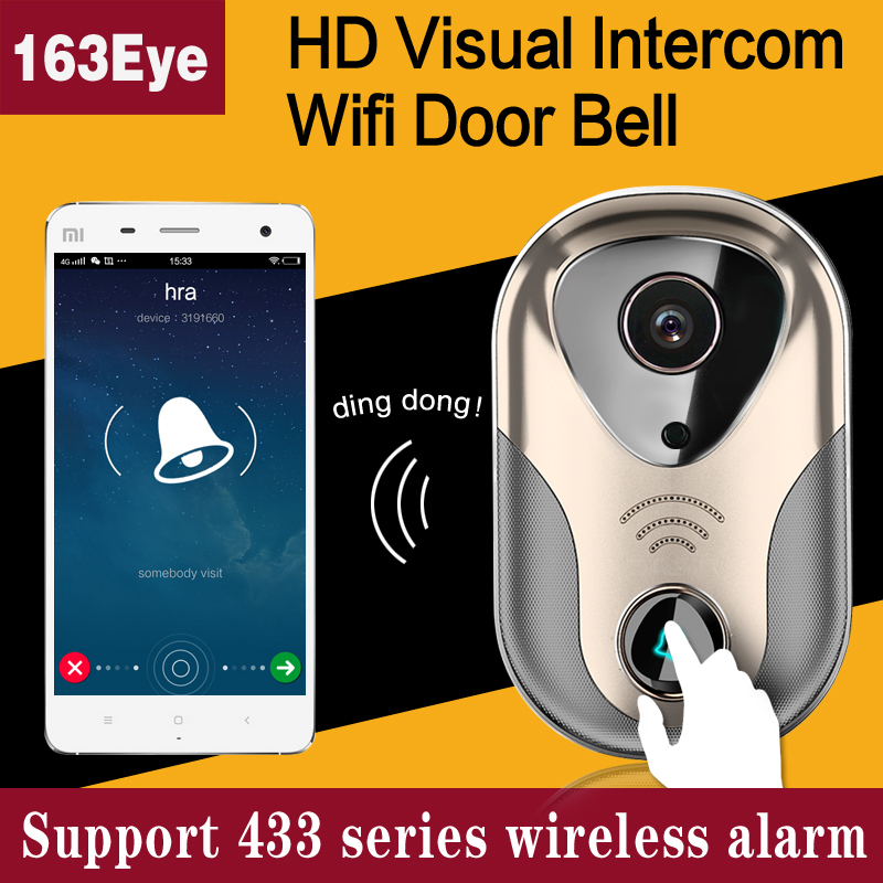 Smart home security peephole ring wi fi enabled video doorbell wireless video intercom