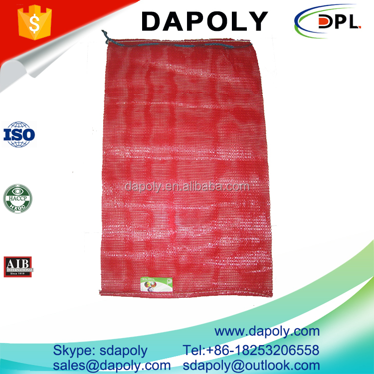 Quality Certification Durable Vegetables <strong>PE</strong> Mesh Bag Fruits Packaging Bags PP Tubular Mesh Bag
