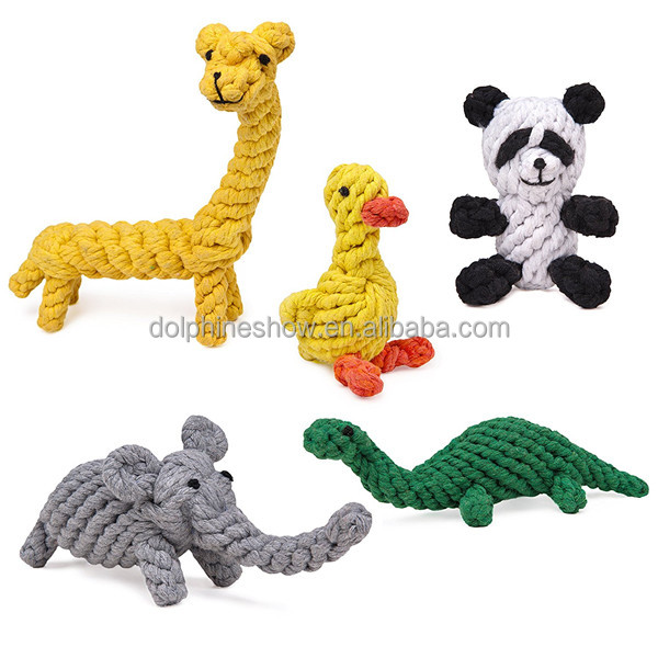Cartoon cute 5 Pack dog toy set Fashion LOW MOQ Pet chew rope dog toy