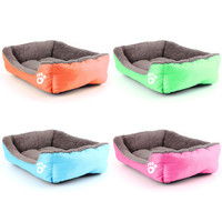 High Quality New 4 Color Pet Dog Cat Bed Sofa Puppy Cushion House Warm Pet Kennel Pad Blanket Dog Mat Size L