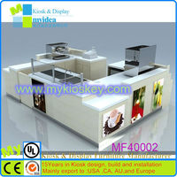 Customized 3d desugn retail frozen smoothie kiosks