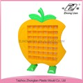 CE-approval China Taizhou Factory Plastic kids kindergarden nursery preschool furniture cheap Apple tea cup rack