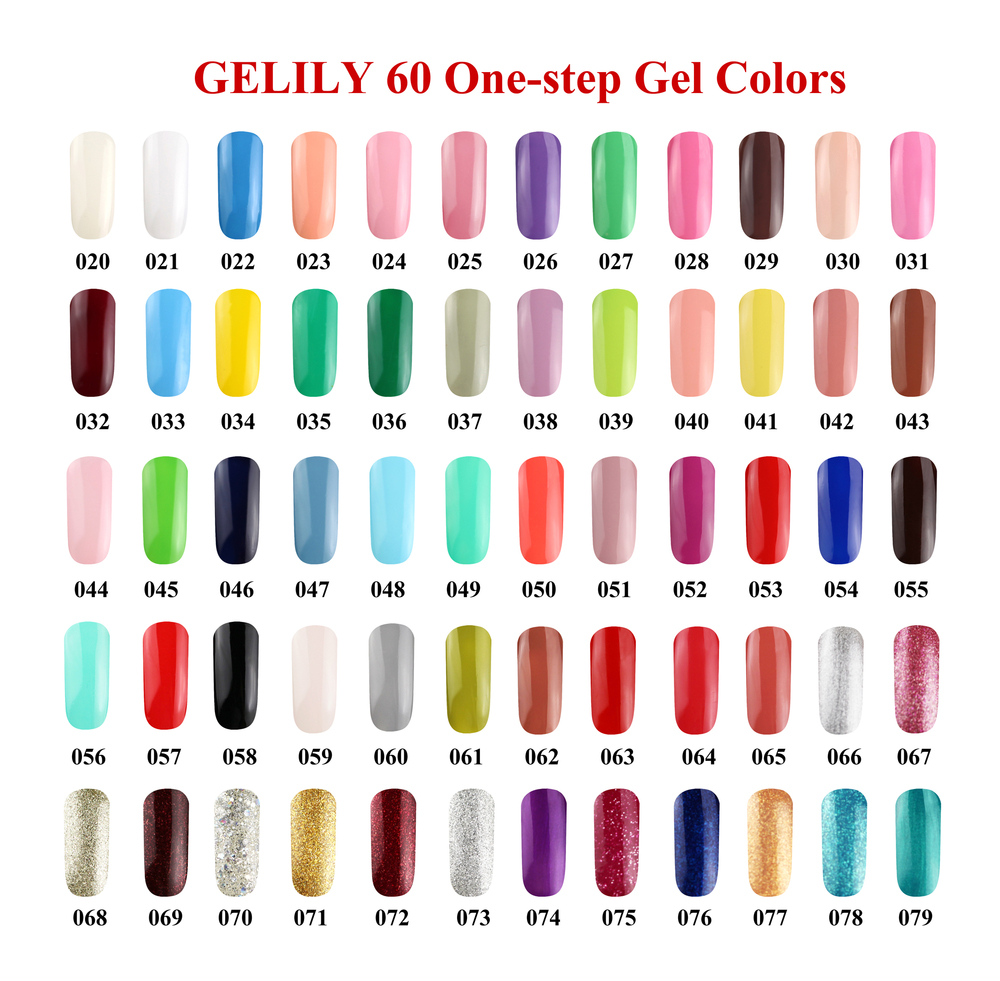 Gado Gelily popular 60 colors Soak Off UV&LED Nail Art One Step Gel 033
