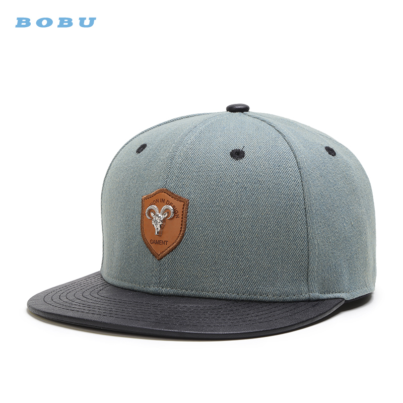 blank flex fit custom leather patch logo blank plain snapback hats wholesale caps