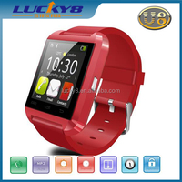 OEM&ODM 2015 super hot sale quad core camera music player phone Android and I O S phone support U8 smart watch