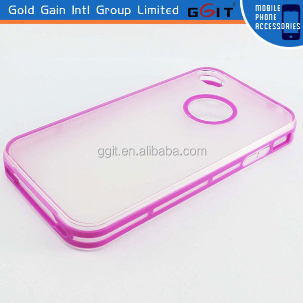 Super Protect TPU Dual Color Case For iPhone 4