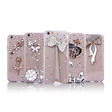 Luxury Bling Diamonds Crystal Soft Back hard pc Case Cover Skin For Apple iphone 7ple iPhone 7 4.7 inches Crystal Phone Case,