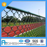 2016 hot sale chain link fence galvanized PVC coated/ Diamond fence/ used fence
