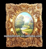 Hand painting classical resin oil painting frames antique