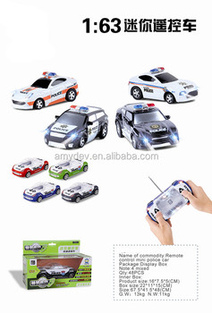 hot sale 1:63 4ch Remote control mini police car toy