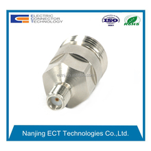 N Jack to SMA Jack Straight Connector RF Coaxial Adapter