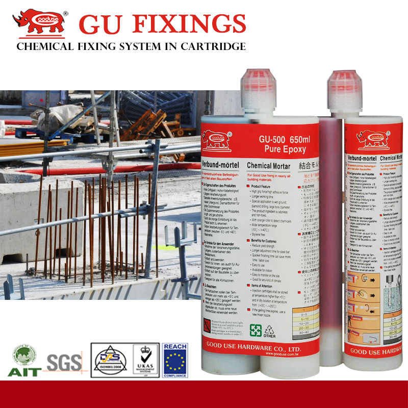 ab double glue with tubes anchor epoxy for building steel rebar