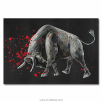 Custom Abstract Black Cow Oil Paintings Art On Canvas For Wall Decoration Pieces