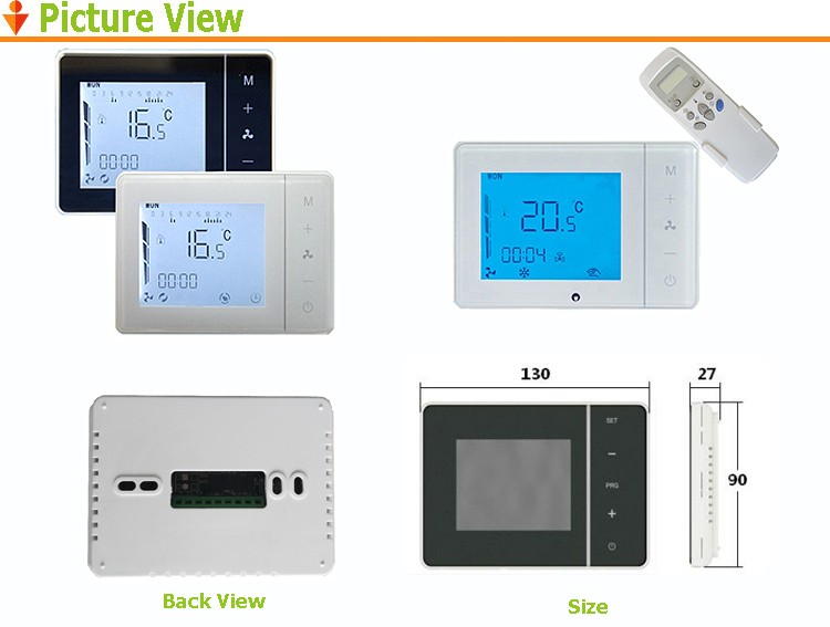 HY01AC 220v AC White Color Room Thermostat For Air Conditional