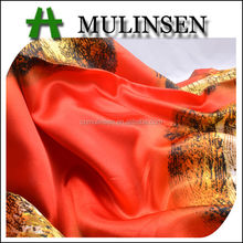 Mulinsen Textile Fashion Design Woven Polyester Printing Fabric Satin Elastic