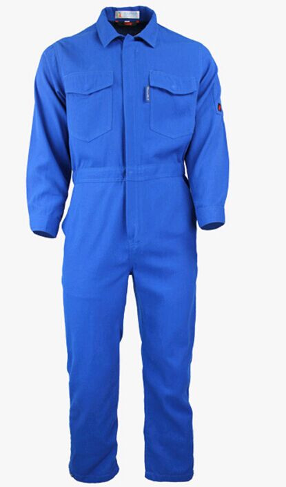 Mens Two Tone Workwear Blue Fire Flame Retardant Coverall /Suit