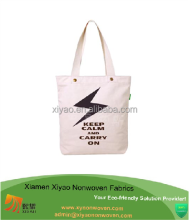 Wholesale Reusable Cheap Shopping white cotton canvas tote bag