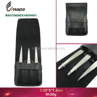 TW1327 hot sell custom tweezers stainless steel eyebrow tweezer set manufacturer