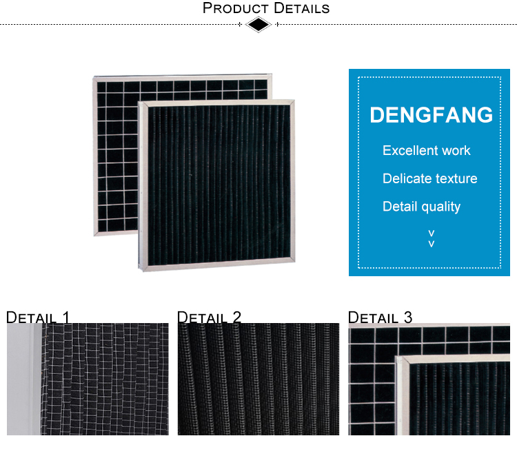 New durable design air conditioning activated carbon smoking clean filter wholesale
