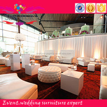 Sinofur For event modern wedding use white furniture sofa