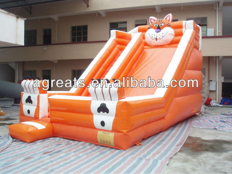 2012 new design inflatable tiger slide for kids G4106