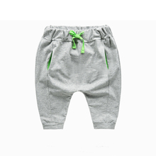 Top Quality Custom cotton Baby Boys Casual Jogger Pants baby harem pants with Drawstring Waistband