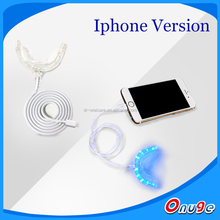 personal care Blue Teeth Whitening LED Light, support iPhone & Android mobile phones teeth whitening light with tray
