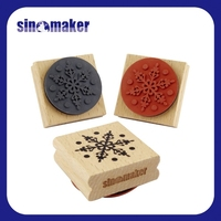 custom snowflakes rubber wooden stamps for DIY craft scrapbook deco, diary