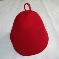 100% wool felt sauna hat/wool felt gloves/DINGFNEG FELT