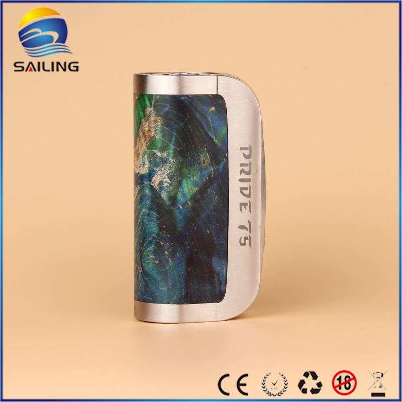 2016 New arrival Athena Pride 75W stabwood box mod with unique design