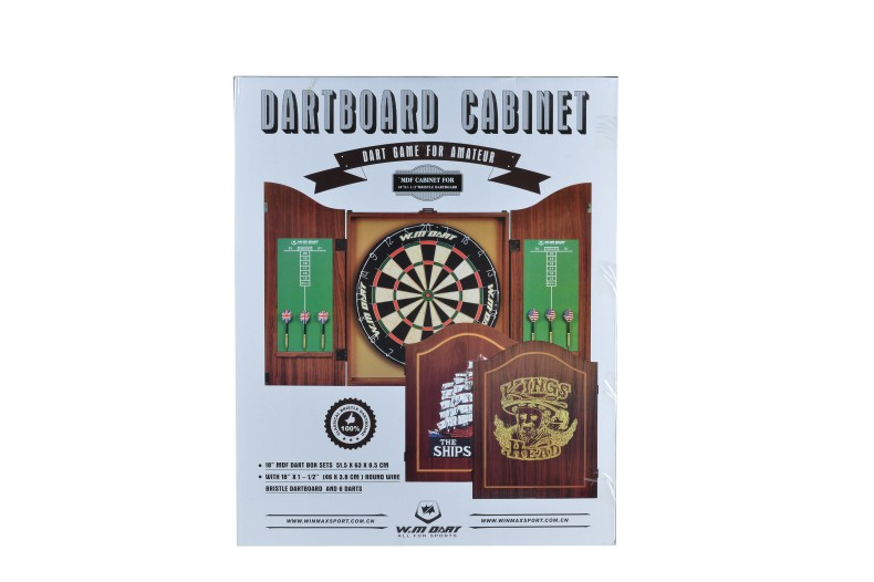 Professional Dartboard With Deluxe Cabinet Darts Colorful DIY Wooden Dartboard Set