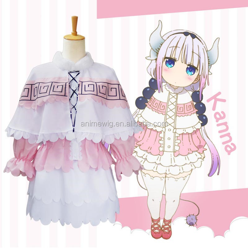 Whoelsale Anime Cosplay Costume Kobayashi Maid Dragon Cosplay Kanna Kobayashi Cosplay Costume