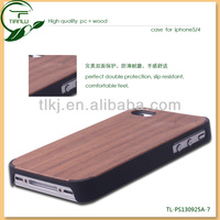 2013 Pc+wood Case For Iphone 5/4G/wood Cell Phone Case