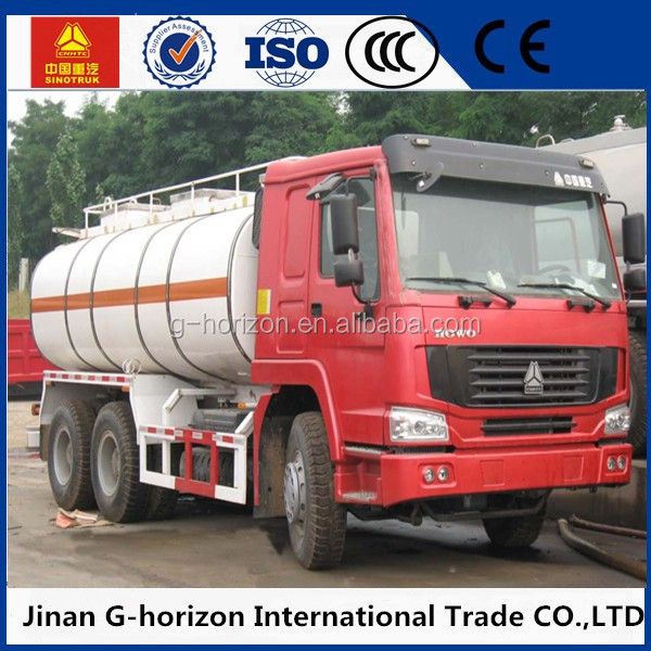 2016 Hot sale small Fuel Tank Truck 6X4 Oil Tanker
