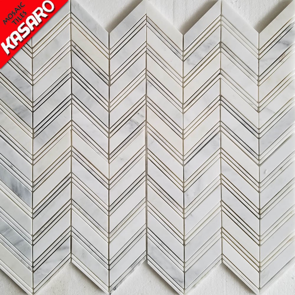 new product white arrows marble tiles marble mosaic for bathroom wall