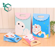 Wholesale Recycled Material Cute Carton Logo Custom Gift Paper Bag