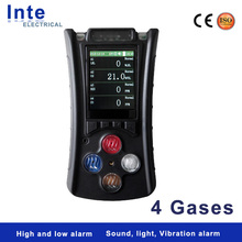 Portable handheld multi-gas detector LEL/CH4, CO, H2S, O2 gas sensor