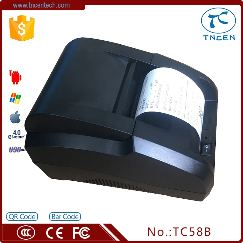 2inch 58mm cheap receipt printer terminal Printer Ticket Printer For phoneTC58B white