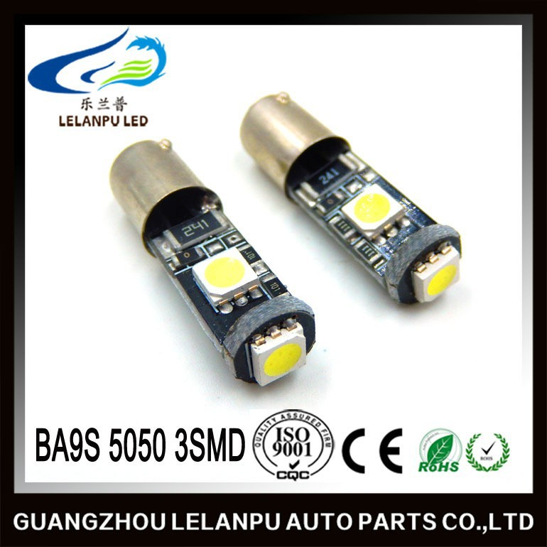 factory price auto led interior reading light 12v BA9S 5050 3smd car parts accessories