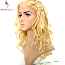 human hair front lace sew in wig European 100% Virgin Human Hair Lace Front Wigs 613# color