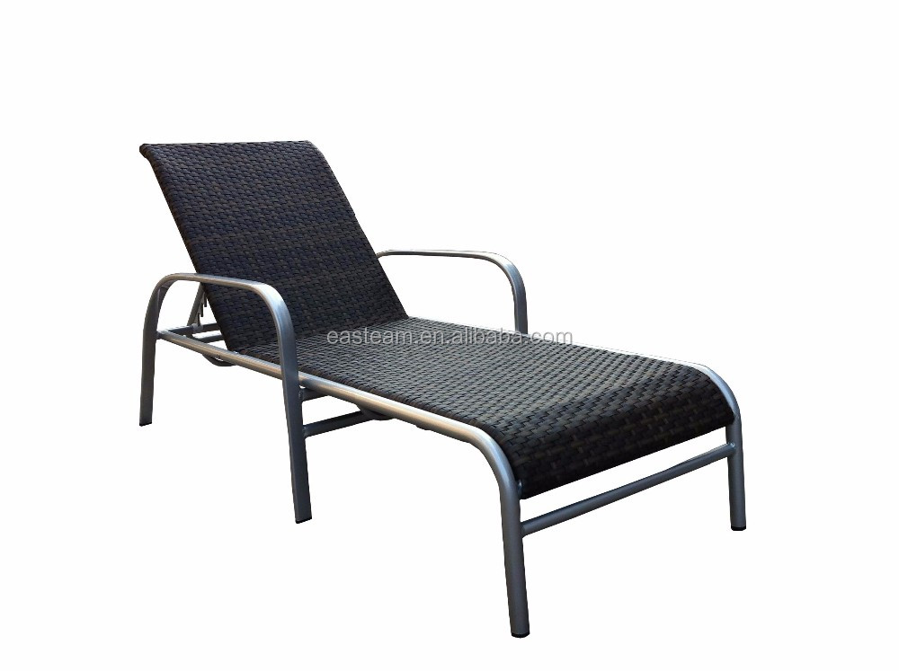 Home used indoor swimming pool rattan chaise lounge chair outdoor garden waterproof metal daybed