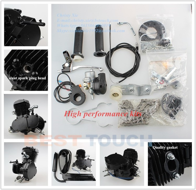 Wholesale 2 stroke engine Kit 80cc engine moped bike gas powered bicycle for sale