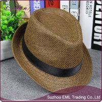 Wholesale Couple Unisex Cheap Straw Cowboy Panama Hat