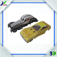 PP diy printable car model kids toy puzzle car 3d puzzle