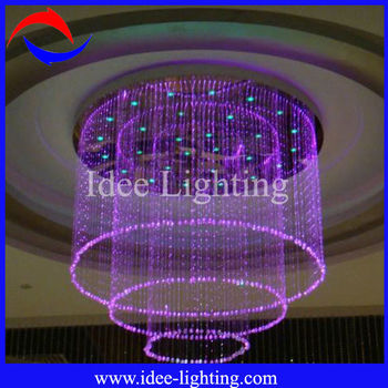 2013 popular design cheap crystal fiber optic chandelier with any size