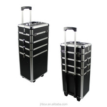 hairdresser trolley case,rolling suitcase,pilot makeup aluminum trolley case JH519