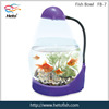 stylish aquarium glass fish bowl with LED light